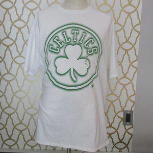 White Adult UNK BOSTON CELTICS White Shirt NEW XL